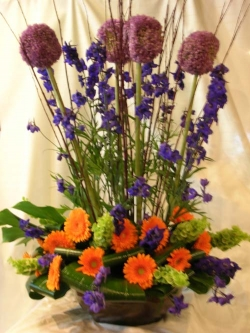 A large arrangement sent as a Valentines day gift
