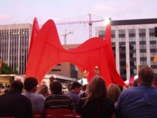 The Calder is both a landmark and an artwork