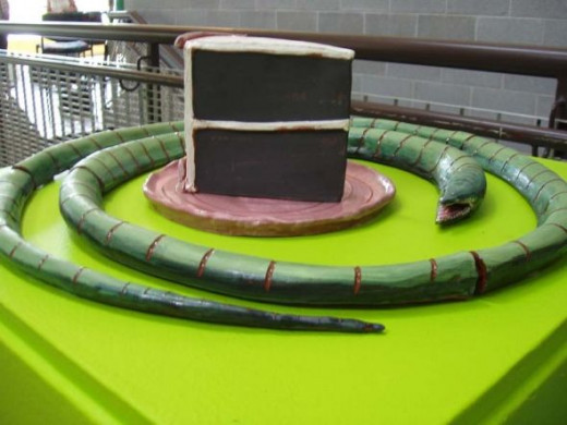 Cake scupture at UICA, photo by Rich T. Anderson