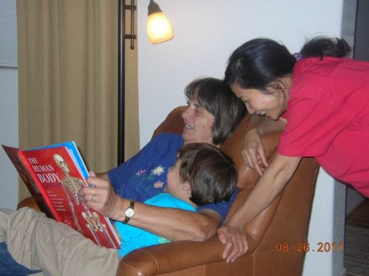 Reading with your son
