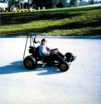 Here's me in my dingo dune buggy