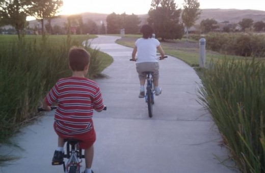Bike ride with my family
