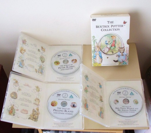 The Beatrix Potter Collection - 3 DVD Box Set - Runtime 247 minutes ( UK buyer in Grimsby ) £ 27