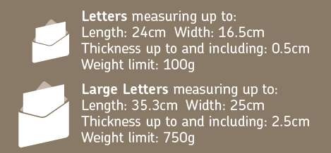 Letter Size & Weight