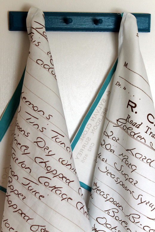 DIY Gifts - Handwritten Recipe Tea Towel
