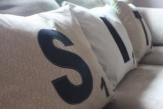 DIY Christmas Gifts - Scrabble Pillows