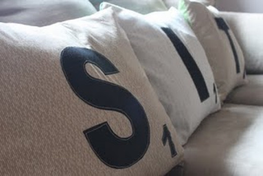 DIY Christmas Gifts - Scrabble Pillows