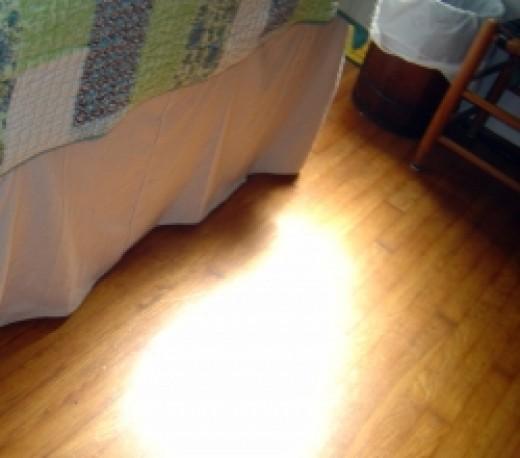 Canvas Drop Cloth Bed Skirt