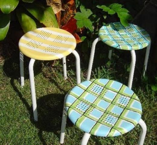 Used Furniture Painted Plaid