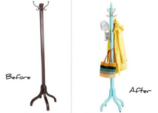 Used Furniture - DIY Ideas via HGTV Coat Rack