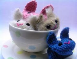 Make Tea Cup Bunnies via Roman Sock