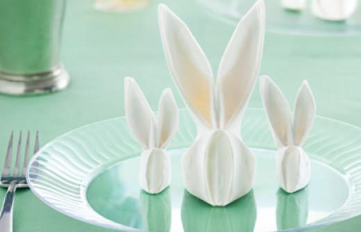 Make a Bunny Napkin - Folding a Bunny Napkin