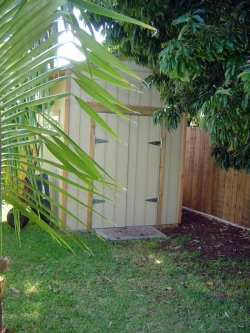 Double Doors on Shed