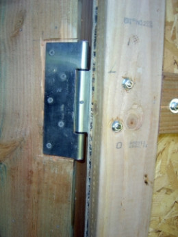 Hardware on Shed Doors