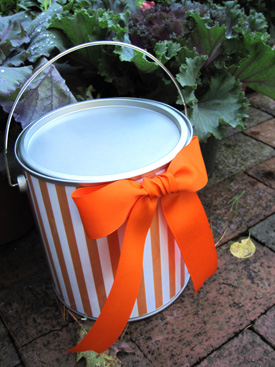 DIY Trick or Treat Bags - Paint Bucket for Treats