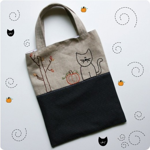 Halloween Trick or Treat Bags DIY
