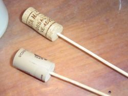DIY Bootiful Bouquet for Halloween - Wine Cork Sticks