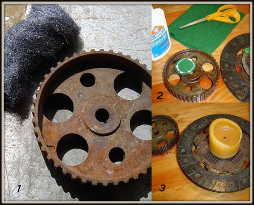 Old Gear Candleholder DIY