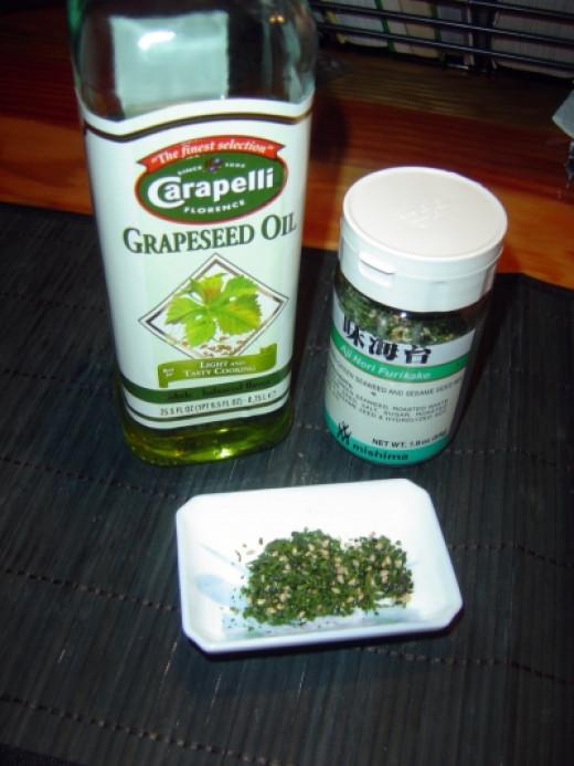 Grapeseed Oil  Aji Nori Furikake