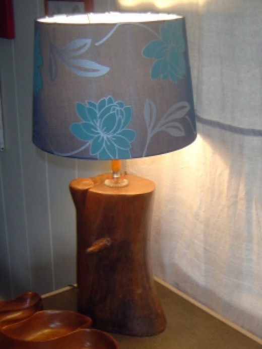 Wood Art Lamp Trash to Treasure