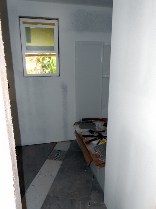 Drywall finished - Bathroom