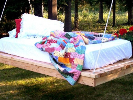 DIY Day Bed Swing via Ana White
