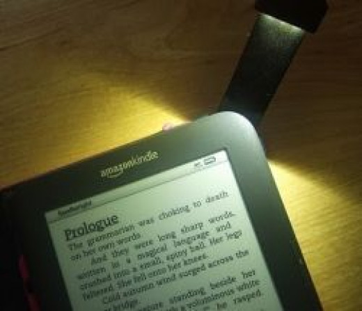 Kindle Light on the Lighted Cover