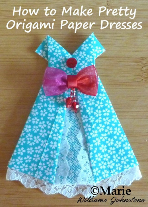 easy origami dresses to fold hubpages
