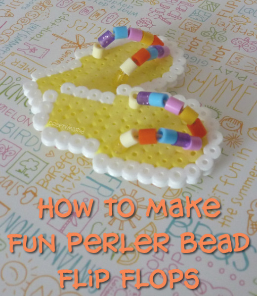 How to Make Fun Beaded Perler Hama Beads Flip Flops