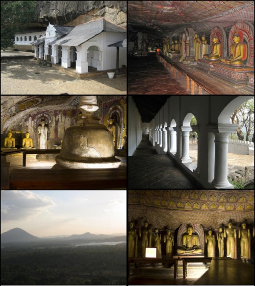 pictures of Dambulla Rock Temple