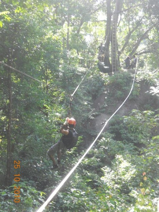 Flying fox, the exiting part of the adventure