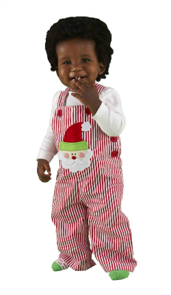 Image: Mud Pie Baby Boys Overalls for Christmas at Amazon.com