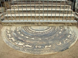 Moonstone in Queen's palace in Anuradhapura
