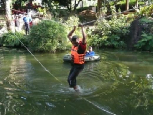 Fun team building activities at Wijeya Holiday Resort