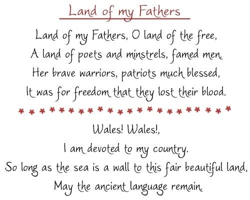 Land of my Fathers (Welsh National Anthem in English)