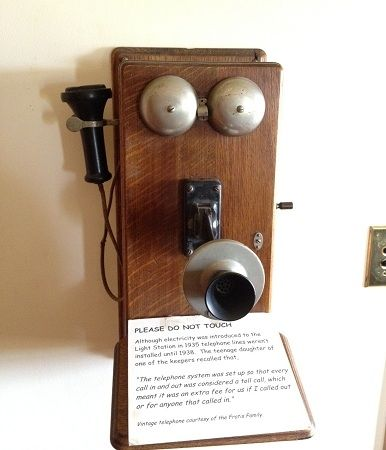 Wooden old-time hand-crank phone