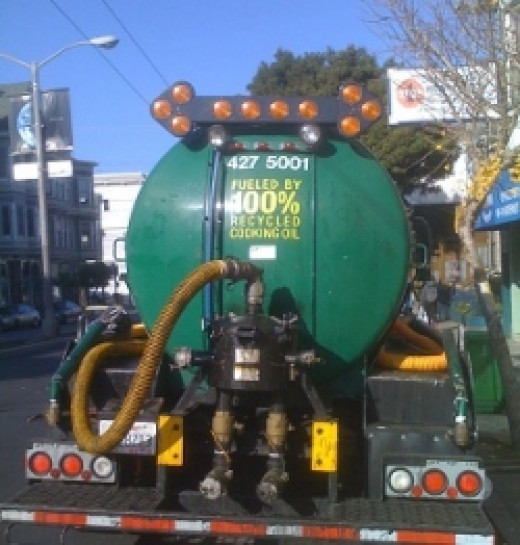 San Francisco's Green Grease Truck collects tons of used cooking oil to be made into biofuel for our buses, saving money and helping America become energy independent
