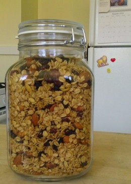 Sharon's favorite homemade granola recipe in a Fido jar - © L Kathryn Grace, all rights reserved
