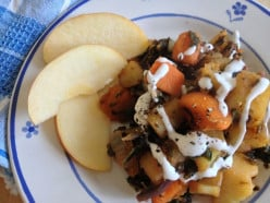 Pommes de terre with kale and yams