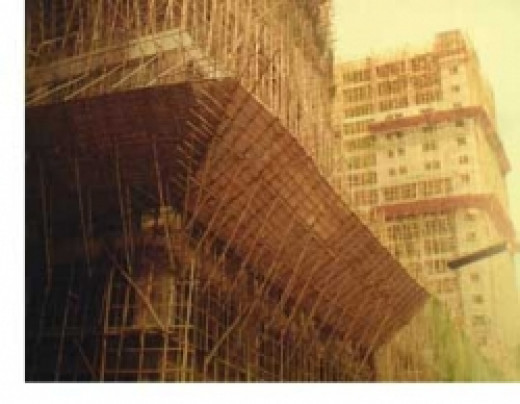 Bamboo scaffolding - Image courtesy Bamboo Village