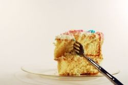 Piece of cake with fork