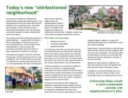 Cohousing brochure
