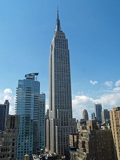 The New York Empire State Building.