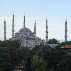 Morning at the Blue Mosque of Istanbul