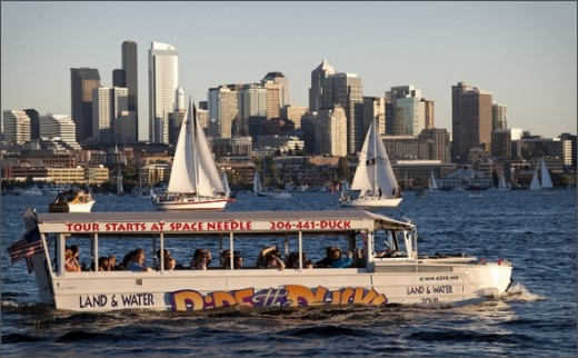 The Duck Tour on Lake Union