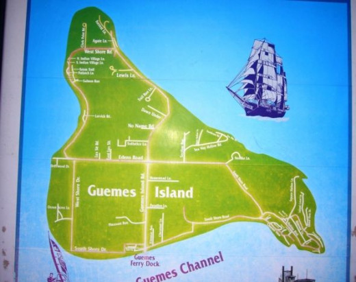 Guemes Island Map