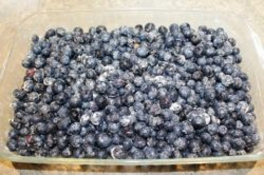 Blueberry crisp - Arranging Berries in a Baking Dish