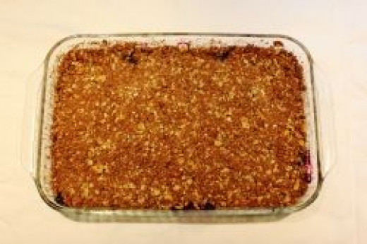 Blueberry Crumble Fresh from the Oven