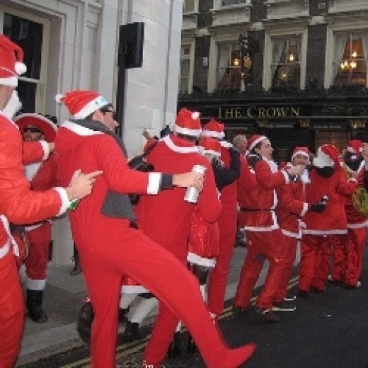 Santacon London December 11, 2011