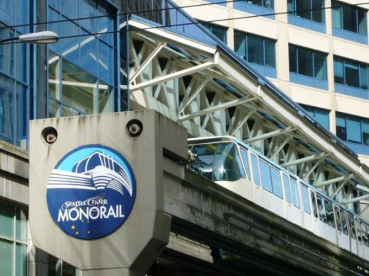 The Seattle Monorail at Westlake Center